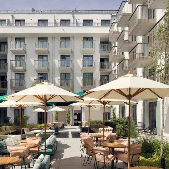Aparthotel Schwan Locke in München - Terrasse