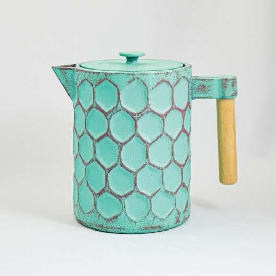 Ja-unendlich - Teekanne mint, Muster Hexagon