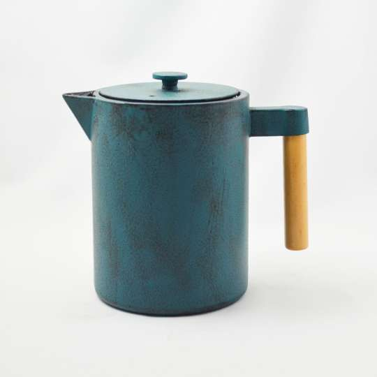 Ja-unendlich - Teekanne mit Holzgriff, blau