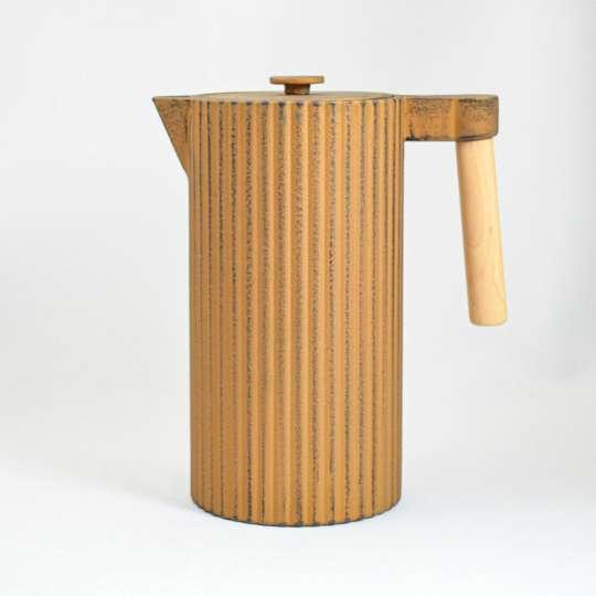 Ja-unendlich - Teekanne mit Rillen, Holz