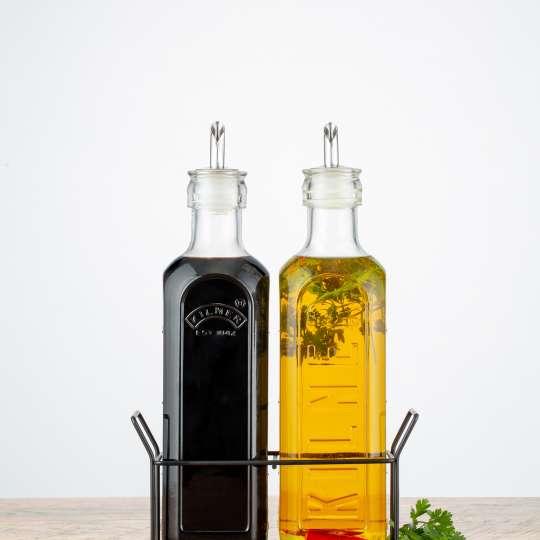 Kilner - Öl-und Essigflaschen im Set im Tragekorb