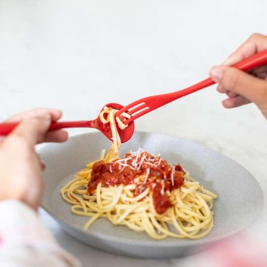 3647-NAPOLI Spaghetti-Besteck in rot von Koziol
