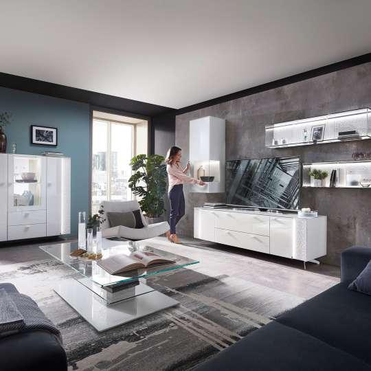 LEONARDO living_AUREA_Wohnzimmer in  Weiß - Model