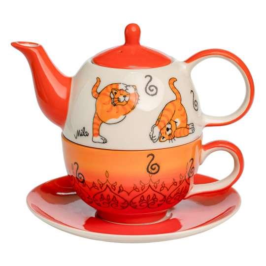 Mila Design -OOMMH KATZE YOGA - Tea for one: Art. 99212