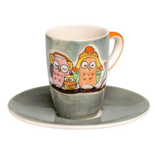 Mila Design – Eulenfamilie Piepmatz - Espresso: Art. 88213