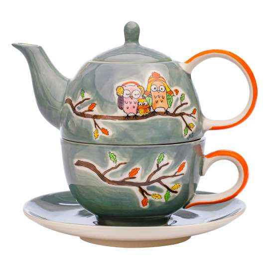 Mila Design – Eulenfamilie Piepmatz - Tea for one: Art. 99213