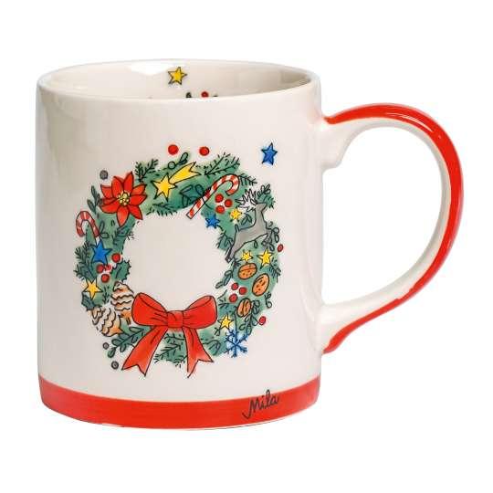 Mila-Design-Becher-Weihnachtskranz-80219