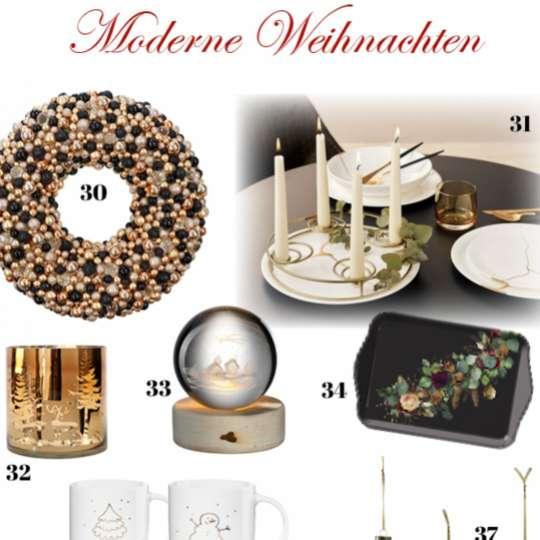 Moderne Weihnachten 2021 - Produktvorschläge