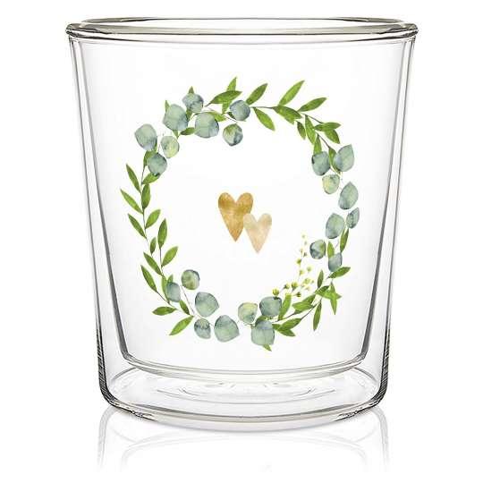604252 · Two Hearts Trendglass, 0,3l