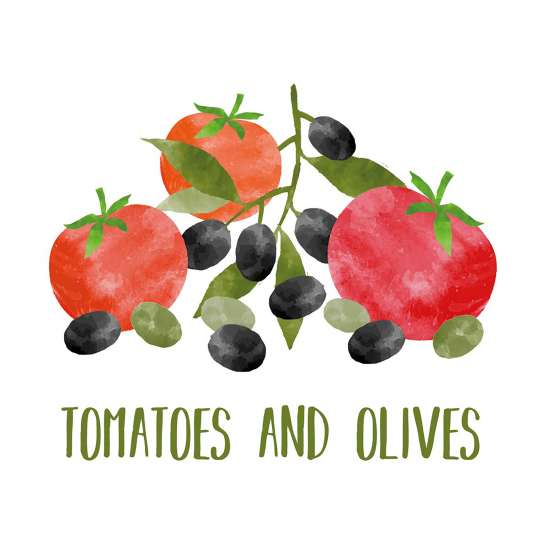 PPD 1254040 Tomatoes & Olives Napkin