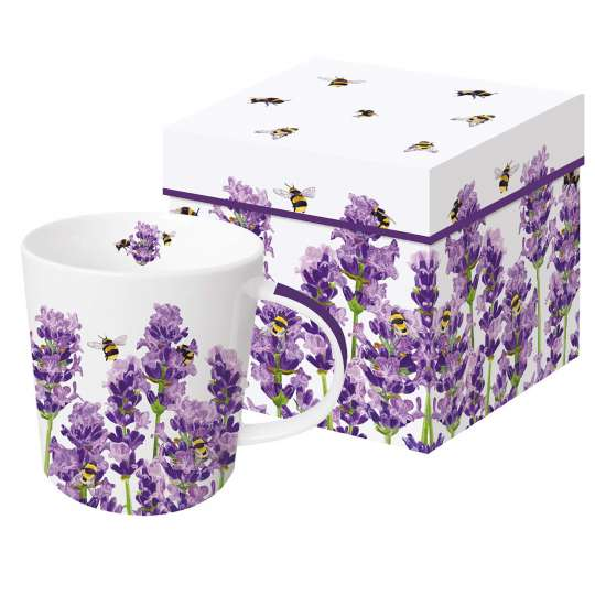 604305·Bees&Lavender Trend Mug Gift Box