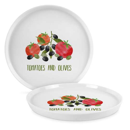 PPD 604346 Tomatoes & Olives Trend Plate 21 cm
