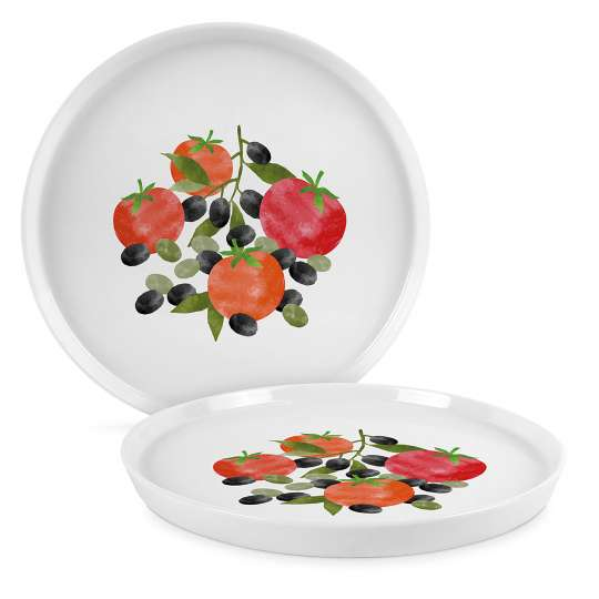 PPD 604347 Tomatoes & Olives Trend Plate 27 cm