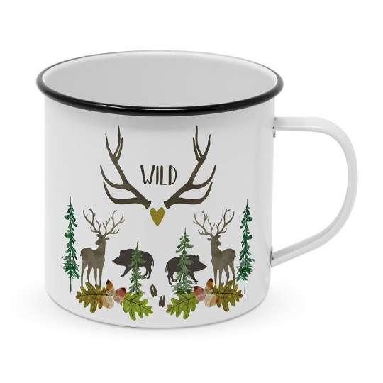 604524 Wild Happy Metal Becher/Mug