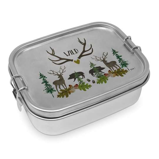 604527 Wild Stainless Steel Lunchbox, leakproof 0,9l