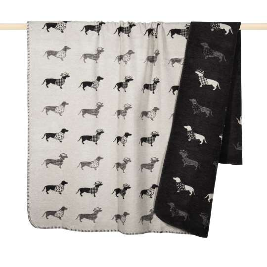 Dackel Decke in grey von pad