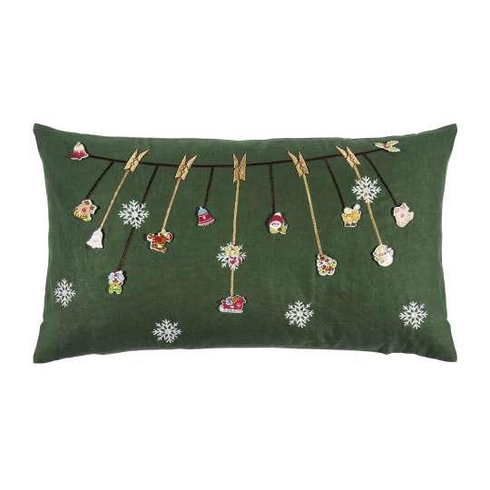 Jingle Kissenhülle in green von pad