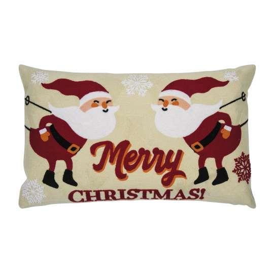 Santa Kissenhülle in beige von pad