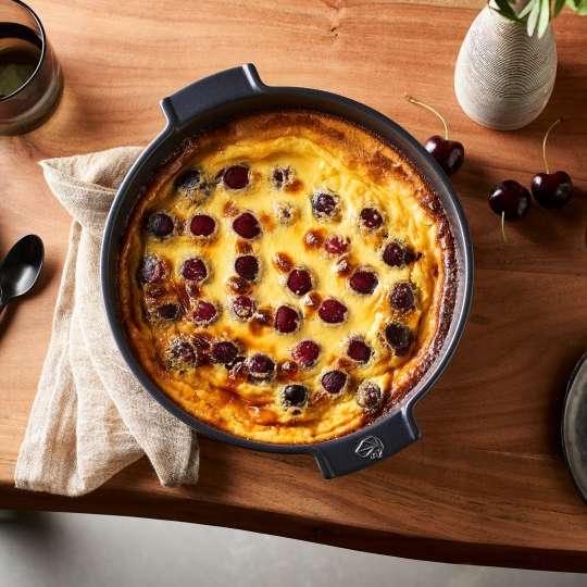 Peugeot Saveurs - Appolia - runde Kuchenform - schiefer - Kirschkuchen