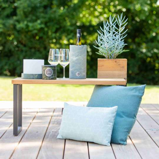 Weinkühler aus Marmor und Kerze - RL014