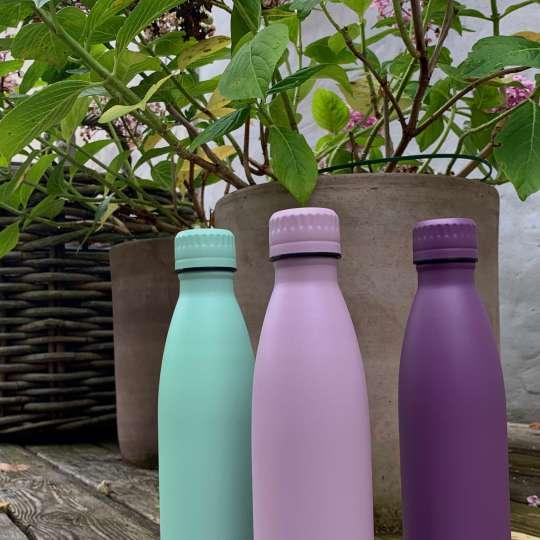 Scanpan - TO GO Isolierflaschen flieder, violett und mint - Terrasse