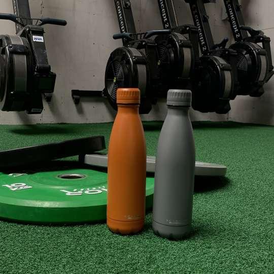 Scanpan - TO GO Isolierflaschen orange und grau - Fitnessstudio