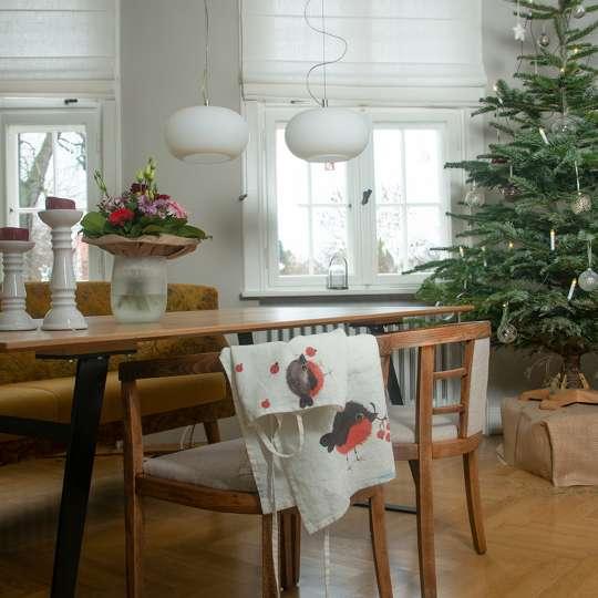 Schulz Home - Raffrollos mit Wandbefestigung - Weihnachtsbaum