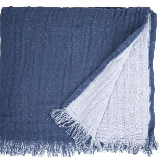 564994 TOM TAILOR T-FRINGED COTTON Plaid blau