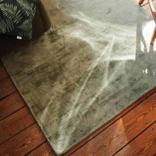 Tom Tailor SHINE Teppich green, 100% Viskose