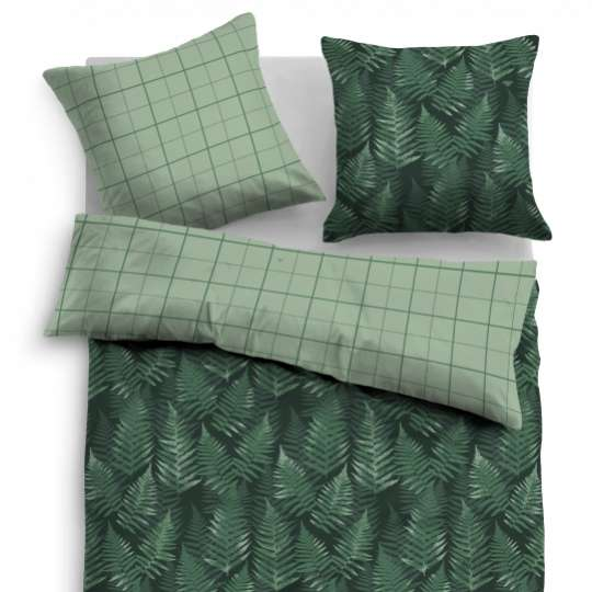 "Tom Tailor  SATIN BED LINEN ""COLORED FERN"", 69980_856"