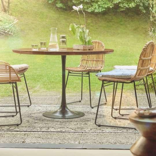 Tom Tailor  TT_Modern Table round mit Rattanchairs 0878