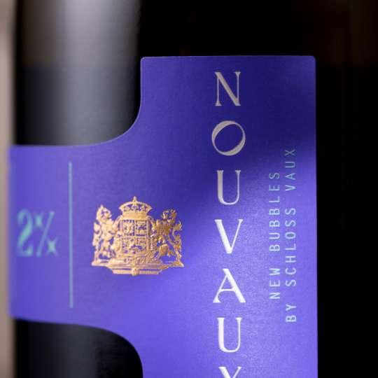 VAUX - Flasche NOUVAUX - Etikett hoch