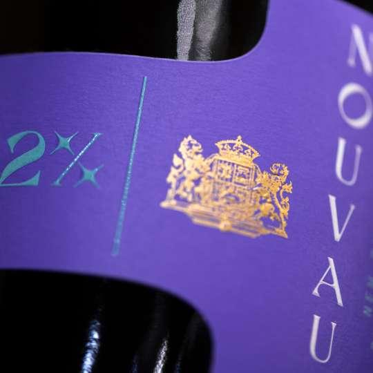 VAUX - Flasche NOUVAUX - Etikett quer