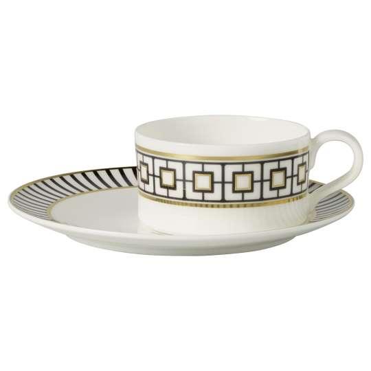 Villeroy & Boch 1044836072 MetroChic Gifts Teetasse mit Untertasse