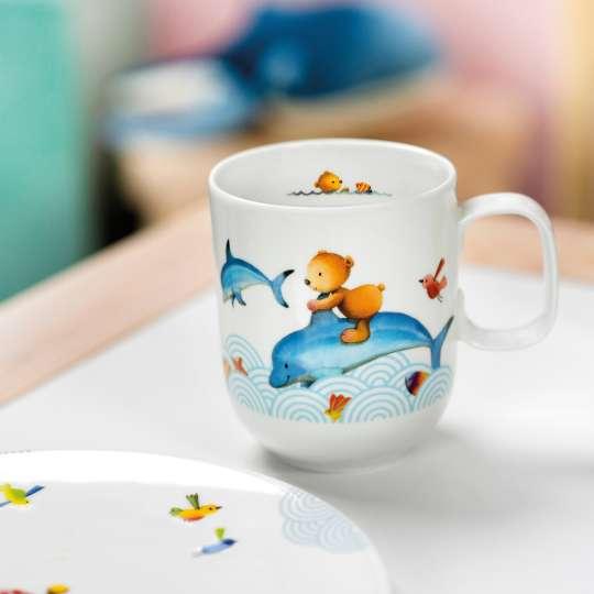 Villeroy & Boch - Happy as a Bear - Becher groß - Bär auf Delphin