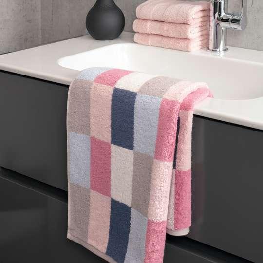 Villeroy & Boch - Badtextilien - Kombination - pink-blau - Waschbecken