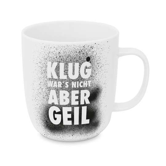 Design-at-home - Tasse 2.0 400ml - Klug war's nicht aber geil