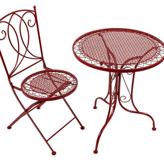 Formano - Metall-Möbel mit matter, rot-schwarz gebürsteter Oberfläche
