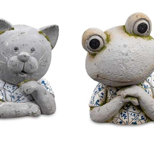 Deko-Büste Katze oder Frosch