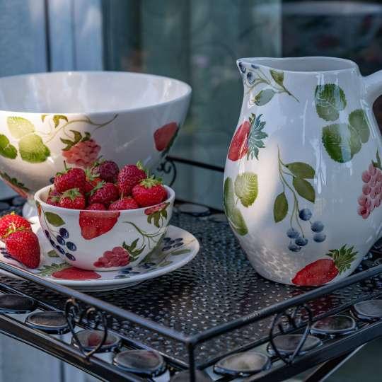Formano Geschirr mit handbemaltem Beeren - Deko