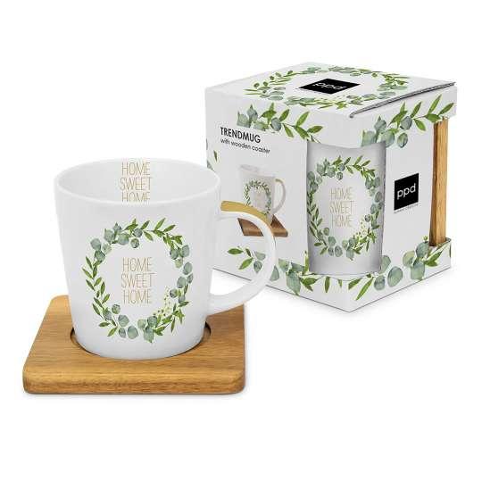 ppd 604298 Home Sweet Home Trend Mug nature, 0,35l