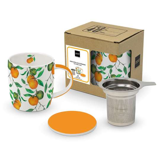 Paperproducts Design Mug Lid & Strainer Beautiful Oranges – 604179