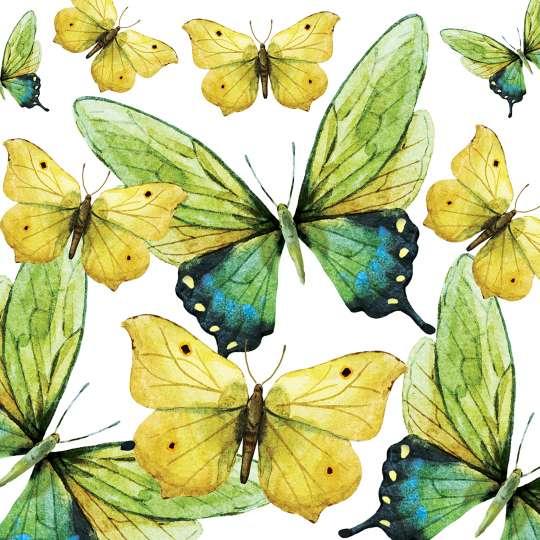 Paperproducts Design Lunchserviette Green Butterflies – 1332724