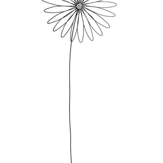 räder - Raumpoesie - Blume aus Draht