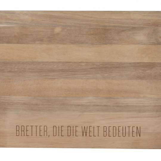 Räder – Akazienholz Tablett BRETTER, DIE DIE WELT BEDEUTEN –Artikel: 15448