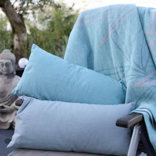 Paradies Kissen und Decke