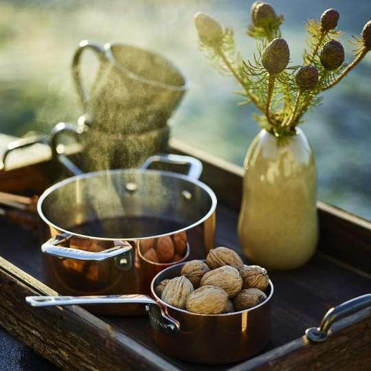 Scanpan - Maitre D' Serie aus Kupfer / Topf und Stielkasserolle