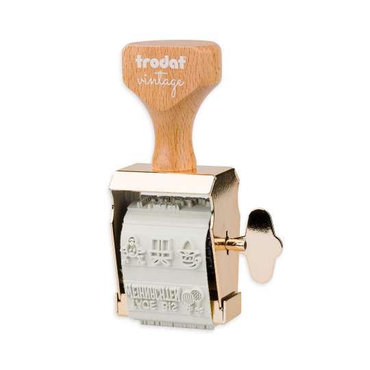 trodat - vintage Stempel mit 6 verschiedenen Abdrucken