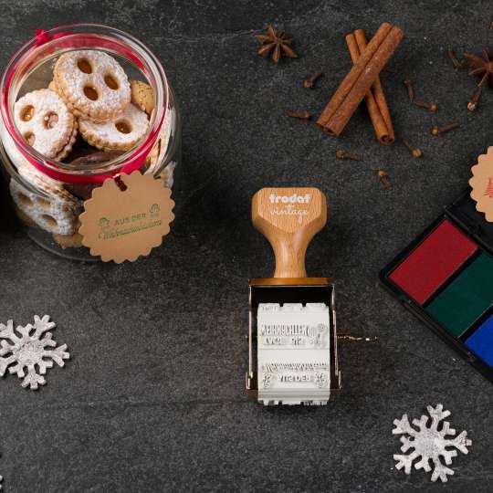 trodat - vintage Stempelset Winter Edition - Keksglas 3