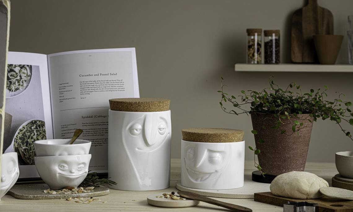 FIFTYEIGHT PRODUCTS / Vorratsdosen mit Gesicht / Mood quer Detail